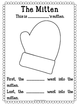 The Mitten Sequence Worksheet {FREE}