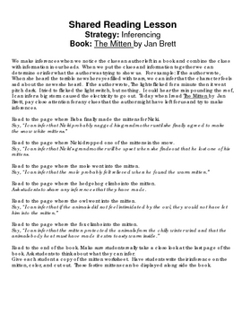 The Mitten: Inference Shared Reading