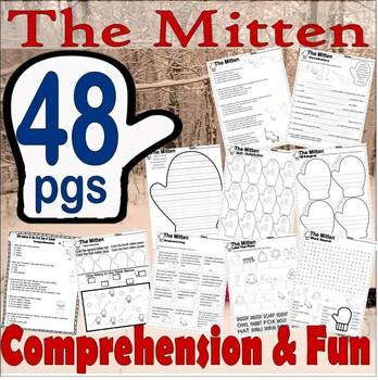 The Mitten Jan Brett : Winter Reading Comprehension Book Companion Activity Pack