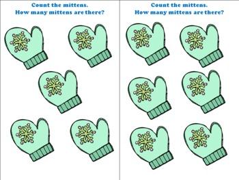"""""""The Mitten"""" Kindergarten Math Unit"""