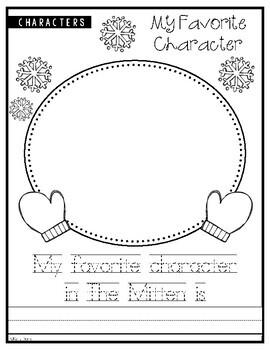 Distance Learning - The Mitten ELA Workbook