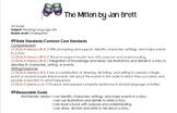 The Mitten Lesson Plan - Common Core Kindergarten Standards