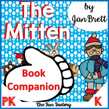 Book Companion  The Mitten by Jan Brett  PK and K