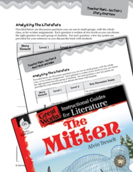 The Mitten Leveled Comprehension Questions