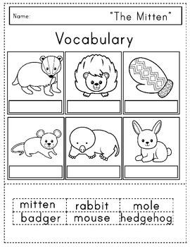 """The Mitten"" Literacy Extension Activities"