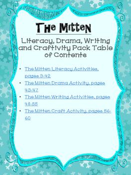 The Mitten by Jan Brett Literacy, Writing, Drama and Craftivity Pack