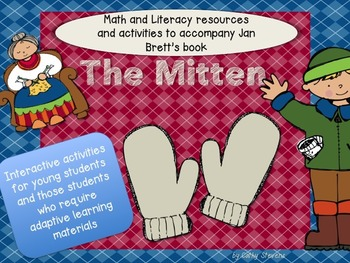 Mitten Literary and Math Activities for The Mitten - Interactive and Adaptive