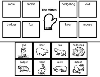 The Mitten Matching Activity