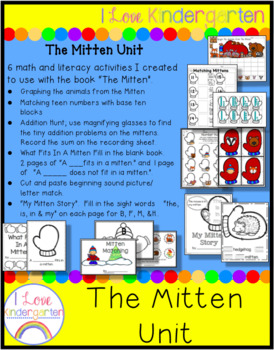 The Mitten:  Math and Literacy Activities