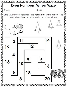 The Mitten: Math and Literacy Activity Pack