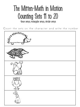 The Mitten-Math in Motion-Counting Sets 11-20