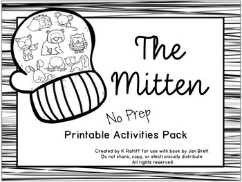 picture regarding The Mitten Printable Book named The Mitten: No-Prep Printable Actions Pack