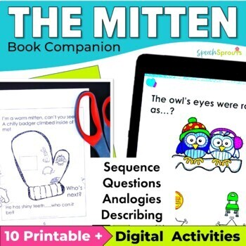 The Mitten Book Speech and Language Book Companion & Reader
