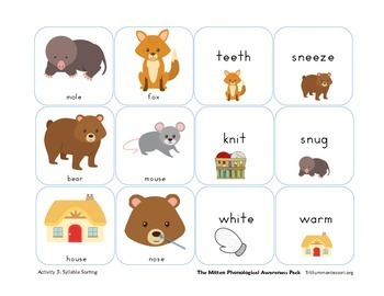 The Mitten- Phonological Awareness Activities