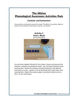 The Mitten- Phonological Awareness Activities