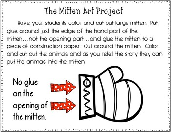 The Mitten (Pocket Chart and Art Project Activity)