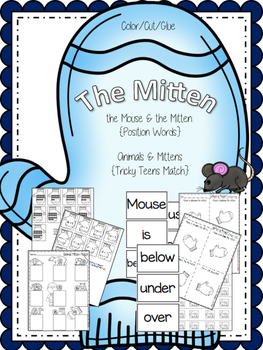 The Mitten {Positional Words & Tricky Teens}
