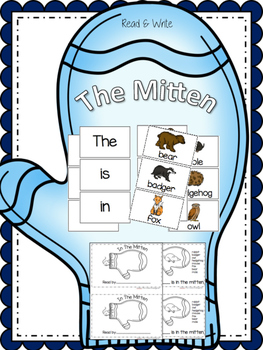 The Mitten {Read & Write: Emergent Reader & Pocket Chart Cards}
