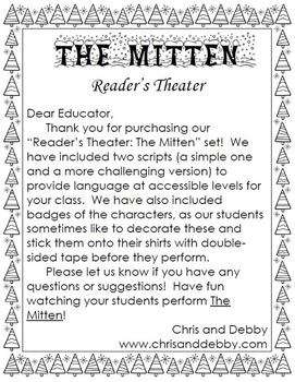 The Mitten - Reader's Theater