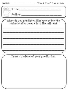 The Mitten Reading Activities