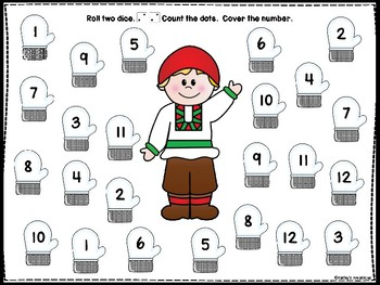 The Mitten Roll And Cover And Story Retell Board