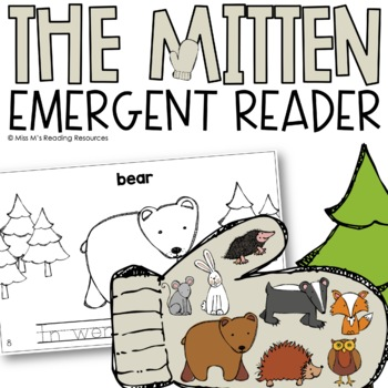 The Mitten Sight Word Reader {Color & Blackline}