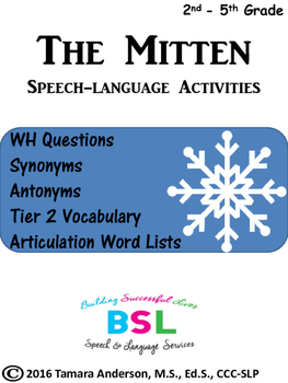 The Mitten Speech-Language Activities
