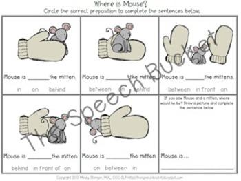 The Mitten – Speech and Language Activities (Winter Book Companion)
