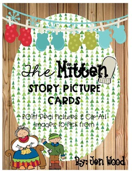 The Mitten Story Cards for pocket chart