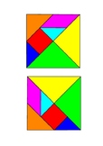 The Mitten Story Characters in Tangram