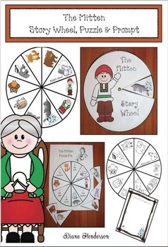 The Mitten Story Wheel, Puzzle & Prompt