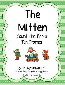 The Mitten Ten Frame Math Center
