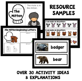 The Mitten Theme Preschool Lesson Plans