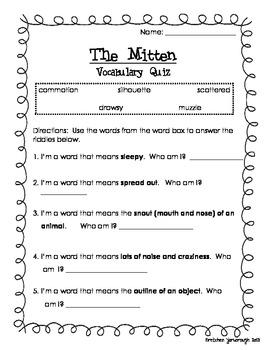 """The Mitten"" Vocabulary"