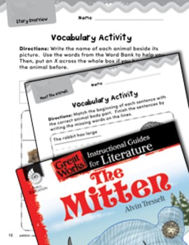 The Mitten Vocabulary Activities