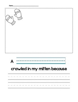 """""""The Mitten"""" Writing Prompt"""