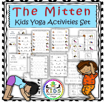 The Mitten- Yoga Activities Set in Color and Black & White