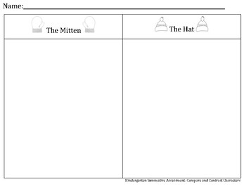 The Mitten and Hat Character Assessment