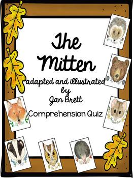 The Mitten by Jan Brett Comprehension Quiz