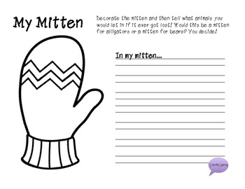 """The Mitten"" by Jan Brett Story Activity Pack!"