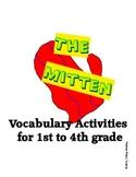 The Mitten by Jan Brett Vocabulary Activities Matching Games & Categorizing ESOL