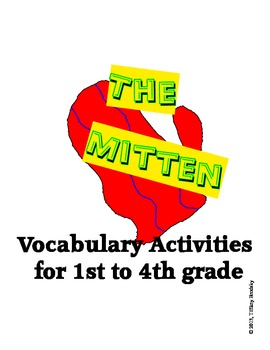 The Mitten by Jan Brett Vocabulary Activities Matching Games & Categorizing ESOL
