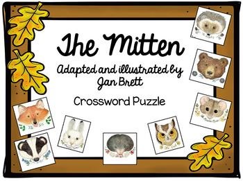 The Mitten by Jan Brett Vocabulary Crossword Puzzle