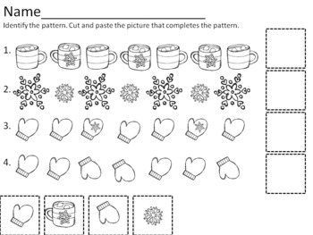 """The Mitten""-complete the pattern worksheets"