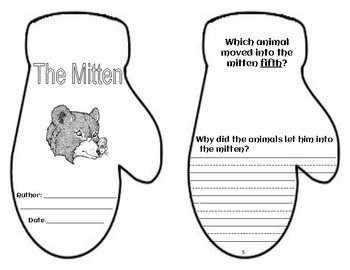 The Mitten retelling and sequence With Writing Starters