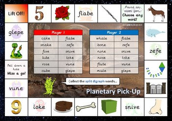 The Mixed Split Digraph Phonics Games Pack