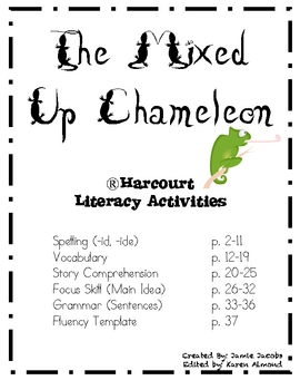 The Mixed Up Chameleon by Jacobs Teaching Resources | TpT