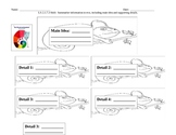 The Mixed Up Chameleon Main Idea and Supporting Details Worksheet