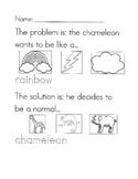 The Mixed Up Chameleon problem/solution worksheet