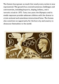 The Modern Olympic Games Handout